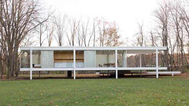 La Casa Farnsworth, en Piano (Illinois), de Mies van der Rohe