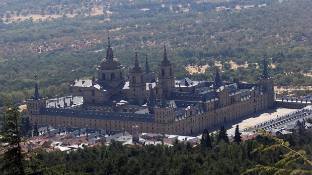Vista aérea del Monasterio del Escorial