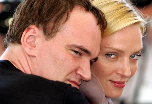 Tarantino y Uma Thurman, durante la presentación de «Kill Bill Vol. 2» en el Festival de Cine de Cannes en 2004