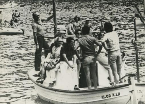 Adolfo Suárez, presidente del Gobierno, visitó Bagur en 1977