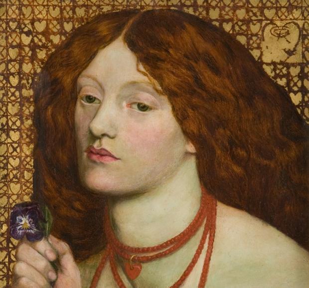 Elizabeth Siddall, pintada por Dante Gabriel Rossetti en «Regina Cordium» (1860)