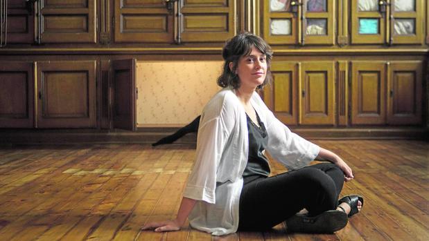 Sara Ramo, fotografiada en su instalación en el Museo Reina Sofía