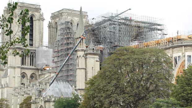 Situación actual de la catedral de Notre Dame, París (Francia)
