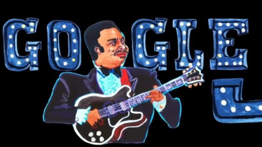 Google celebra el aniversario del nacimiento de B.B. King con un doodle