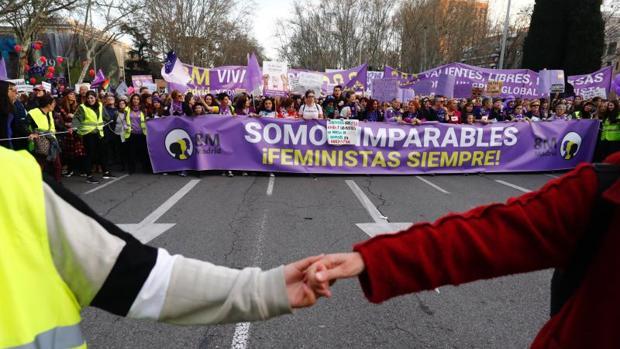 Manifestación feminista por el 8 de marzo de 2019 en Madrid
