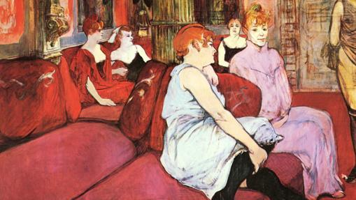 Una de las piezas de Toulouse-Lautrec en la exposición
