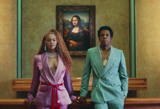 Beyoncé y Jay-Z, ante la «Gioconda» en el Louvre