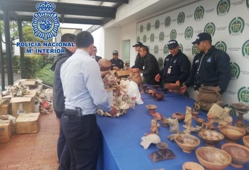 Piezas halladas durante los registros en Colombia