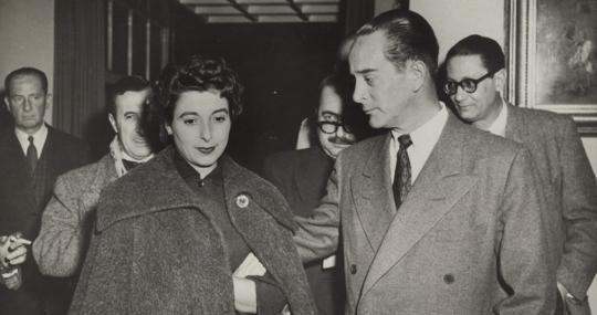 Jacobo Árbenz y su esposa
