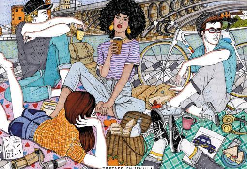 Detalle de una de las ilustraciones de Ana Jarén