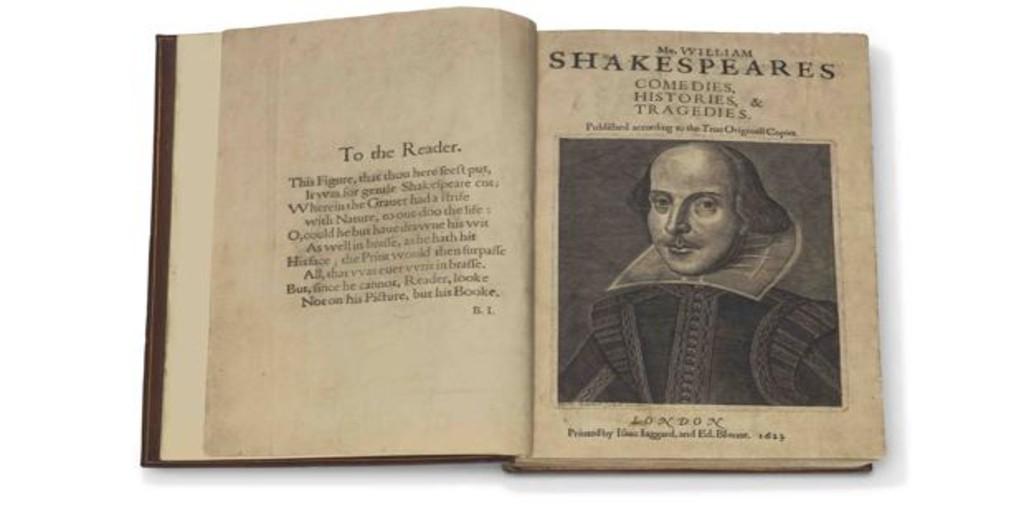 Subastan un ejemplar completo del «First Folio» de Shakespeare, obra cumbre de la literatura