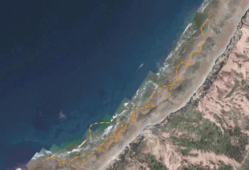 Imagen tomada desde un dron de los corrales marinos de Ligüiki
