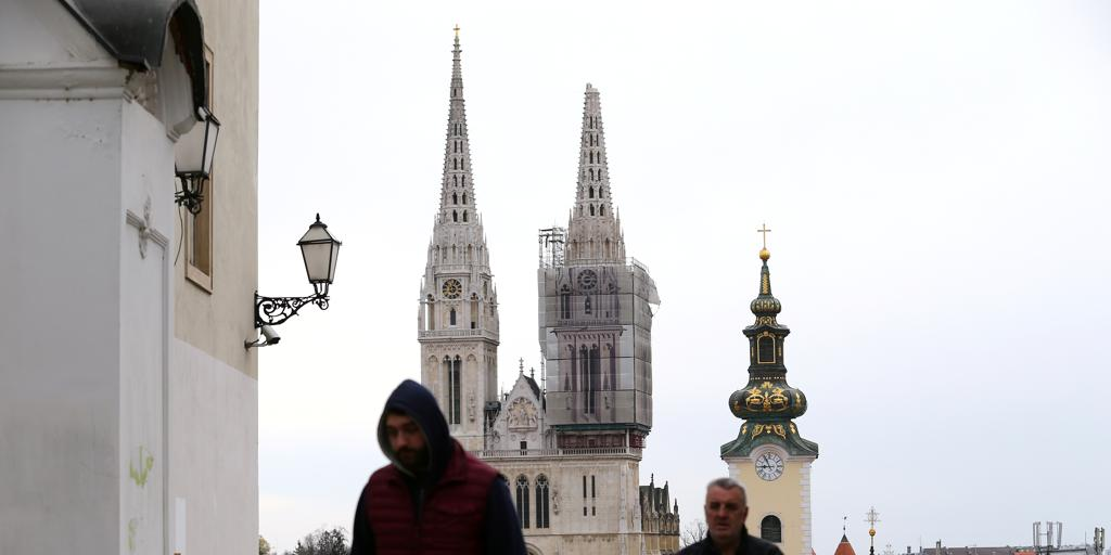 The Tip Of The Zagreb Cathedral Broken Archyde