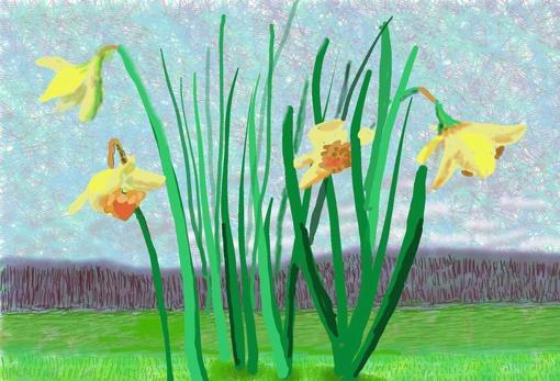 Remember they can't cancel spring, work done by David Hockney with an iPad