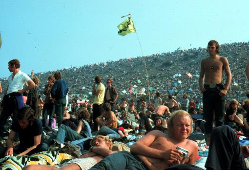 Imagen del festival de la Isla de Wight en 1970