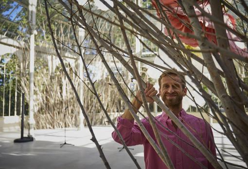 Petrit Halilaj, in the Crystal Palace