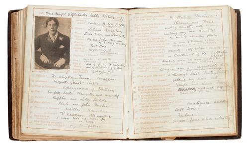 Las respuestas de Oscar Wilde al cuestionario de Robert Saxton