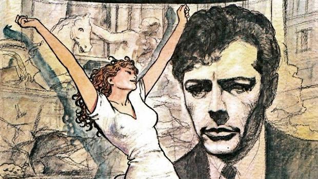 Litografía homenaje a La Dolce Vita (s.f.). de Milo Manara