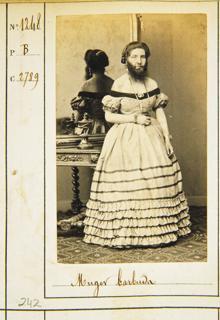 Jean Laurent, 'Mujer barburda'. Museo de Historia de Madrid