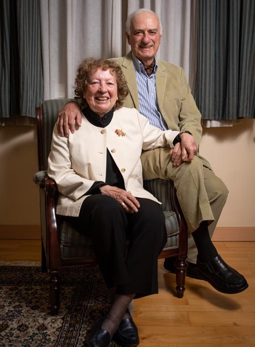 Marilyn Kelly-Buccellati y Giorgio Buccellati, en Madrid