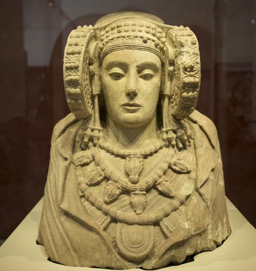 La Dama de Elche, en el Museo Arqueológico Nacional