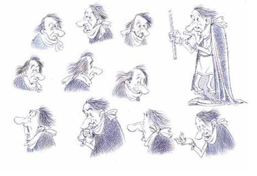 Varios bocetos de Terrignotus