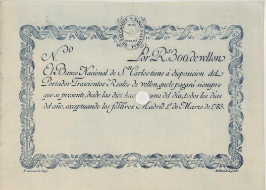 300 real fleece bill.  Bank of San Carlos