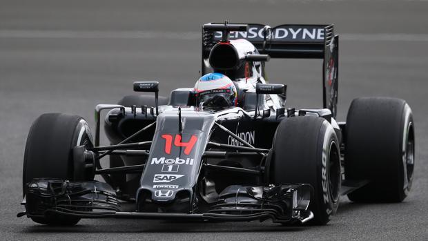 Fernando Alonso, en los segundos libres en Silverstone