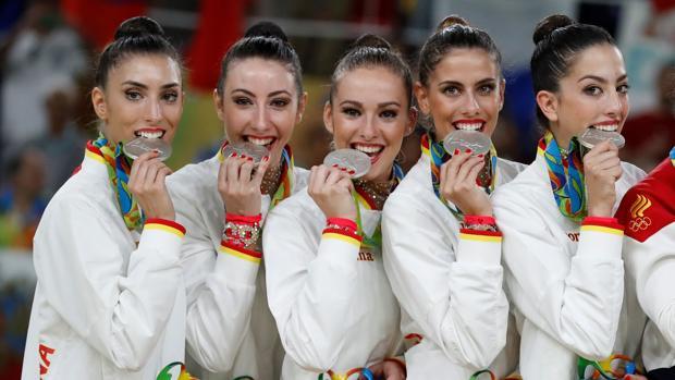 El equipo de gimnasia rítmica, con su plata de Río 2016