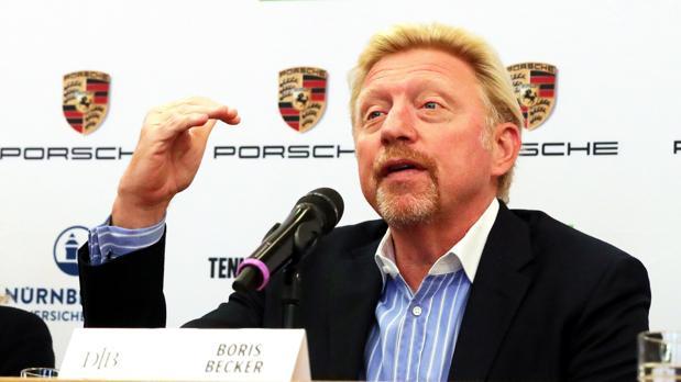 Boris Becker durante su presentación como jefe del tenis masculino alemán