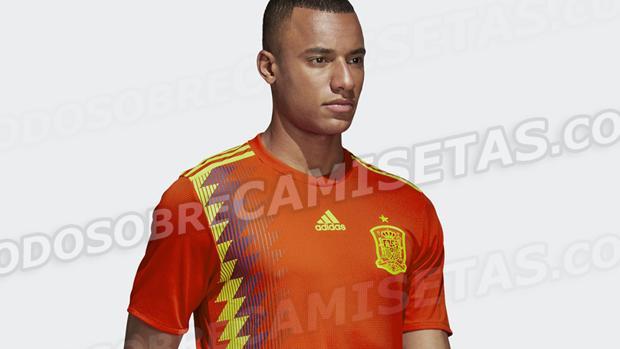 Imagen con la nueva camiseta de España
