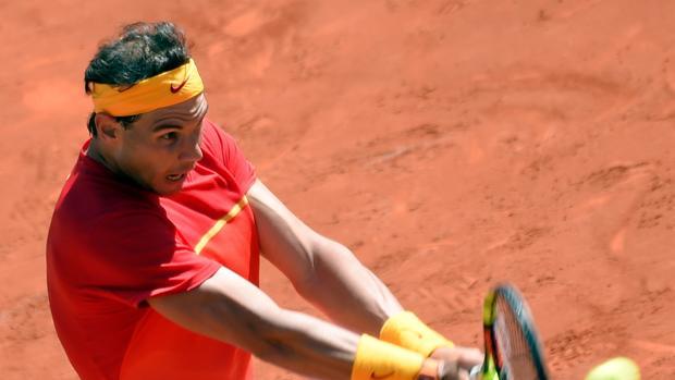 Nadal, durante un partido de Copa Davis