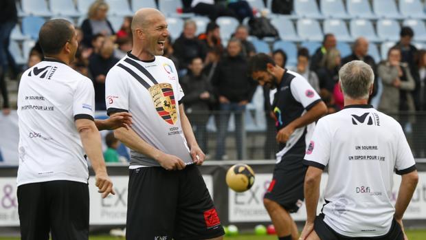 Zidane, en un partido benéfico