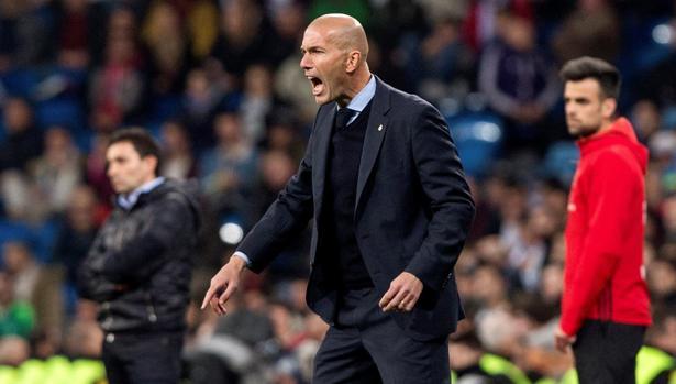Zidane, durante el partido ante el Leganés de Copa del pasado mes de enero
