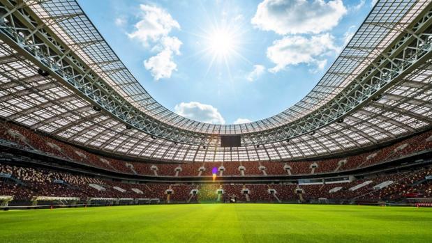 Las gradas del Estadio Luzhniki de Moscú, sede del Mundial Rusia 2018