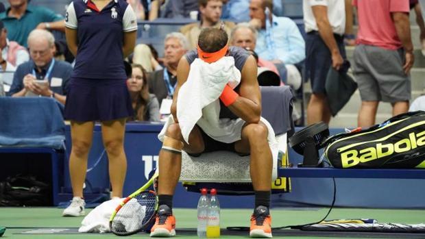 Rafa Nadal lamenta su lesión en el US Open de 2018