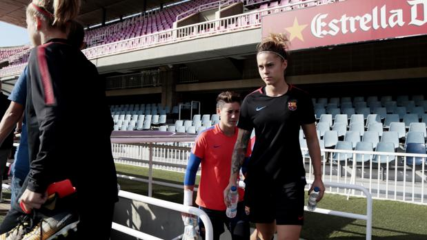 El Barcelona sale a entrenar al Mini Estadi