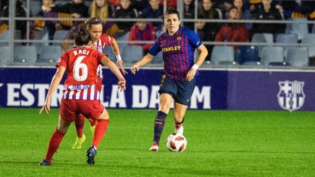 Un momento del Barcelona-Atlético