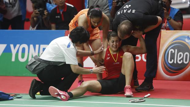 bba592f1efb5 Masters de Indonesia: Carolina Marín se retira de la final lesionada ...