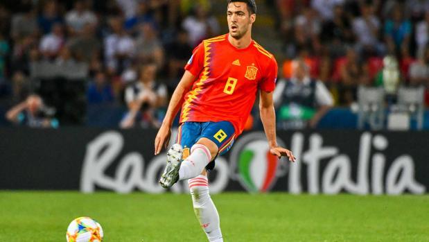 Mikel Merino, en el partido entre España e Italia en el Europeo sub 21