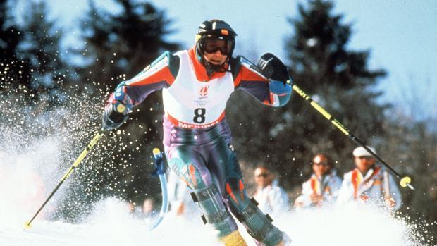 Blanca Fernández Ochoa, en una competición en 1994