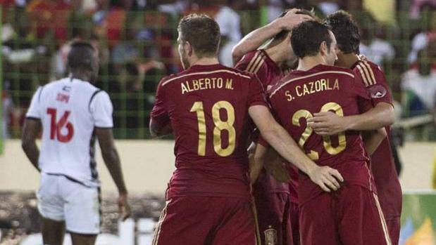 España se impuso a Guinea Ecuatorial en 2013