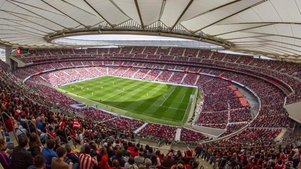 El Wanda Metropolitano, en el Atlético-Barça del pasado curso