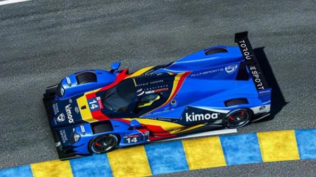 Fernando Alonso y la espectacular parrilla de las 24 Horas de Le Mans virtuales