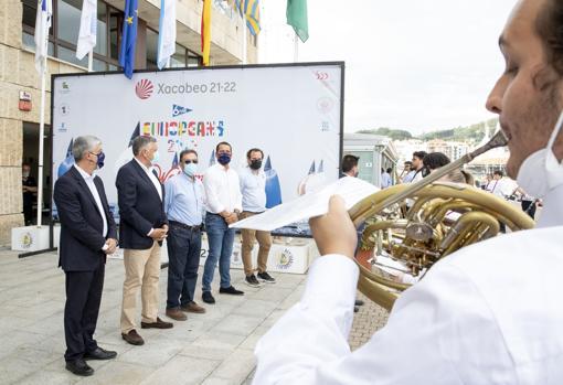Ildefonso de la Campa, Telmo Martín, Pedro Campos, Daniel Arosa and Jesús Quintáns.