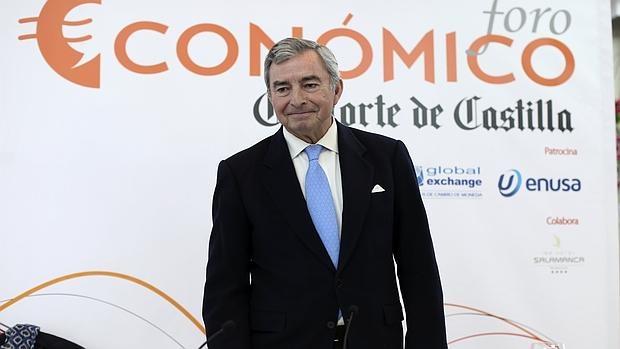 Javier Vega de Seoane, durante un foro económico