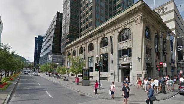 Vista del edificio comprado por Ortega en Montreal