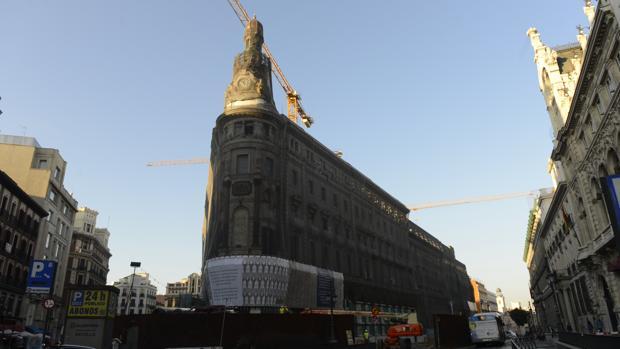 Vista de las obras del conocido como Proyecto Canalejas, a escasos metros de la Puerta del Sol