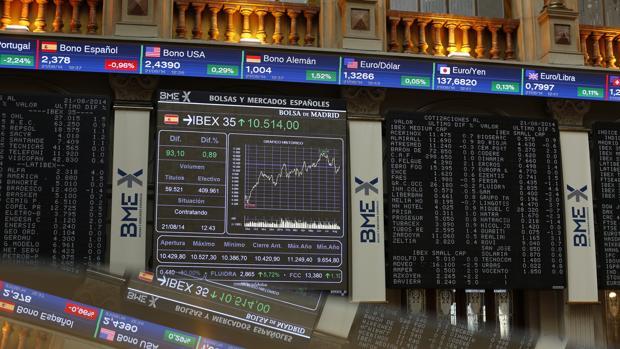 Imagen de archivo del interior de la Bolsa de Madrid