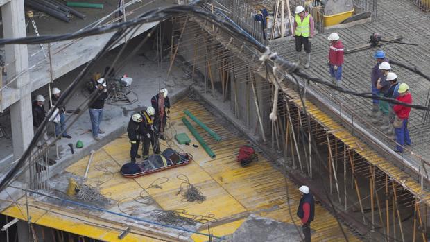 Imagen de archivo de un accidente en un edificio en construcción en Córdoba